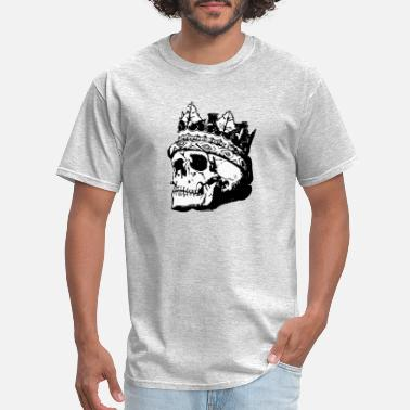 Crowned Skull skull with crown - Men's T-Shirt