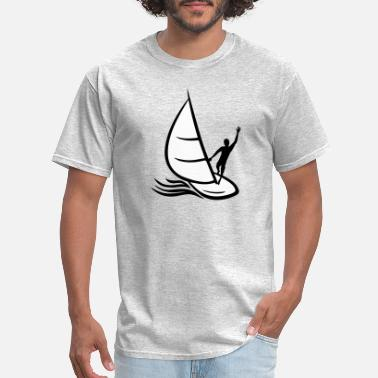 Water Drops waves blob color drop graffiti splash sea boat - Men's T-Shirt
