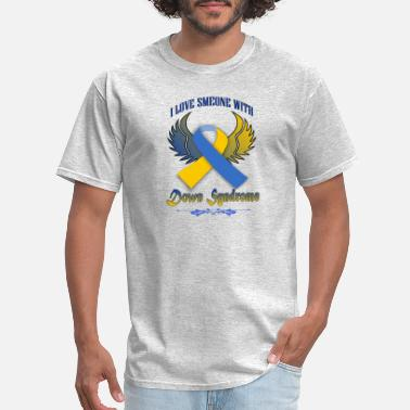 Down Syndrome Ribbon down syndrome - Men's T-Shirt