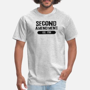 de4d34ab 2nd Amendment Est 1791 - Dark Text - Men's T-Shirt