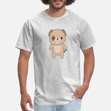 Cute And Kawaii Dog Cute Kawaii Brown Dog - Men's T-Shirt