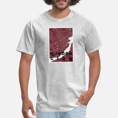 Quebec City Quebec City hipster city map red - Men's T-Shirt