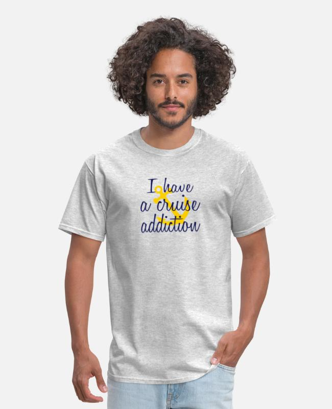 Anchor T-Shirts - Cruising Is My Passion - Men's T-Shirt heather gray