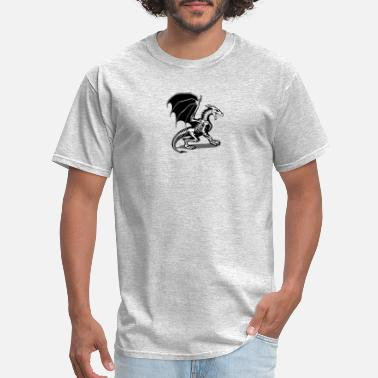 Dragon Drawing MOST POPULAR AW502 How To Draw A Dragon Skeleton - Men's T-Shirt