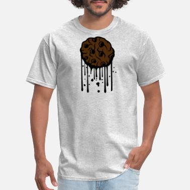 Schoko graffiti drop chocolate cookie biscuit chocolate d - Men's T-Shirt