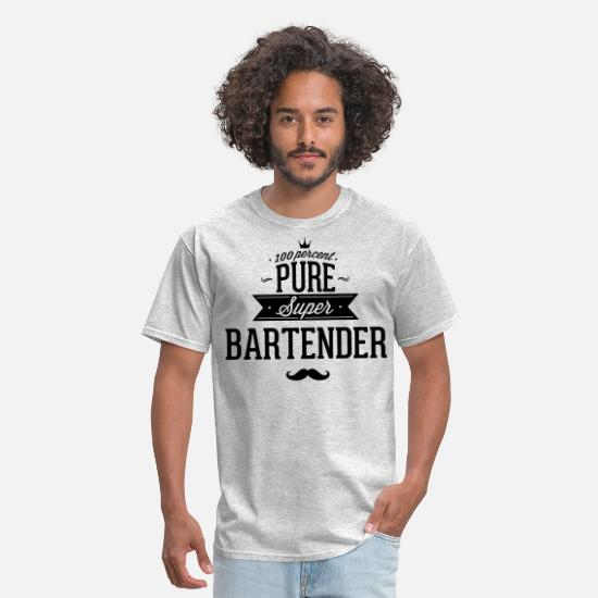 Bartender T-Shirts - 100 percent pure super bartender - Men's T-Shirt heather gray