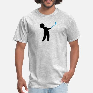 Phil Green A Golfer Swings His Golf Club - Men's T-Shirt