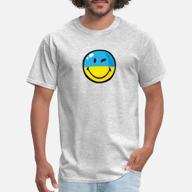 Ukrainian Flag SmileyWorld Ukrainian Flag - Men's T-Shirt