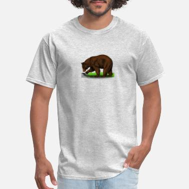 Refuge wild bear polar teddy bears brown grizzly panda ba - Men's T-Shirt