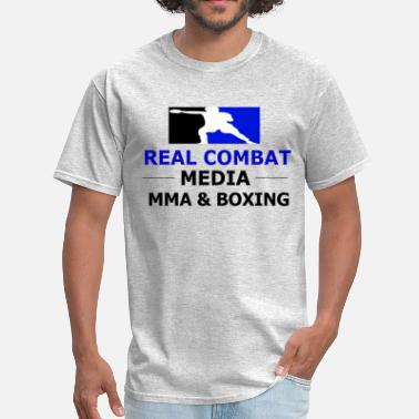 Rcm RCM MMA & BOXING Blue Logo - Men's T-Shirt