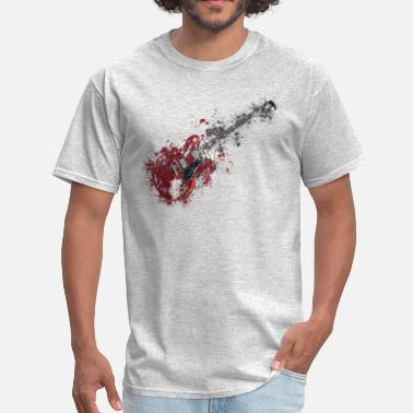 Paint Splatter Splatter paint guitar music - Men's T-Shirt