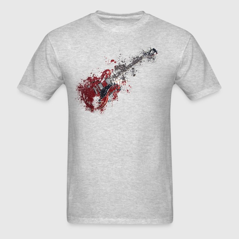 Splatter paint guitar music - Men's T-Shirt