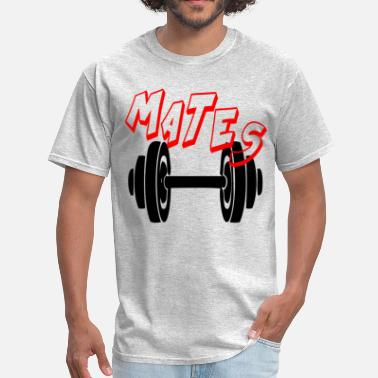Funny Couples MATES - FUNNY GYM COUPLE - Men's T-Shirt