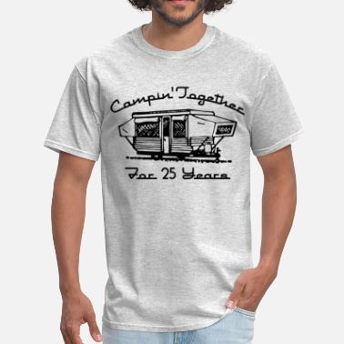 Second Wedding Her Camping Together 25 Years - Men's T-Shirt