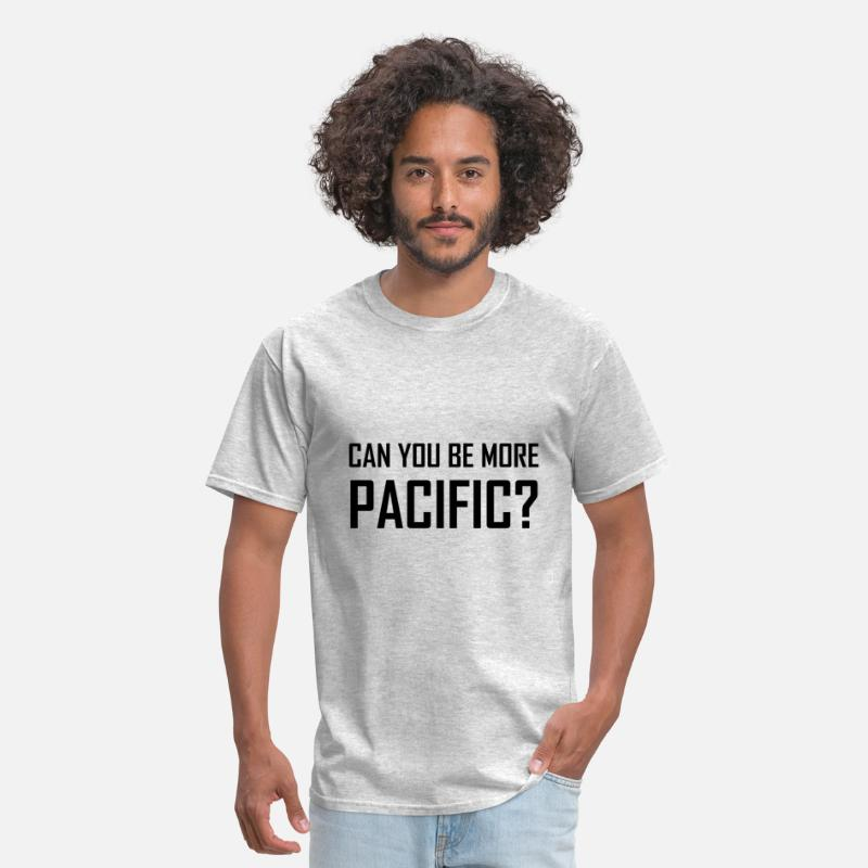 Coast T-Shirts - Can You Be More Pacific - Men's T-Shirt heather gray