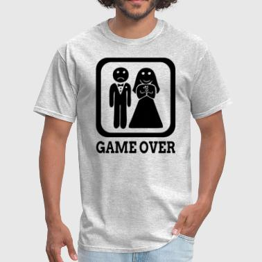 Bride And Groom Game Over GAME OVER Marriage Bride Groom Wedding - Men's T-Shirt