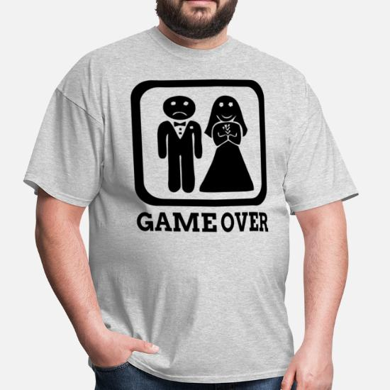 94f6e8f5 GAME OVER Marriage Bride Groom Wedding Men's T-Shirt | Spreadshirt