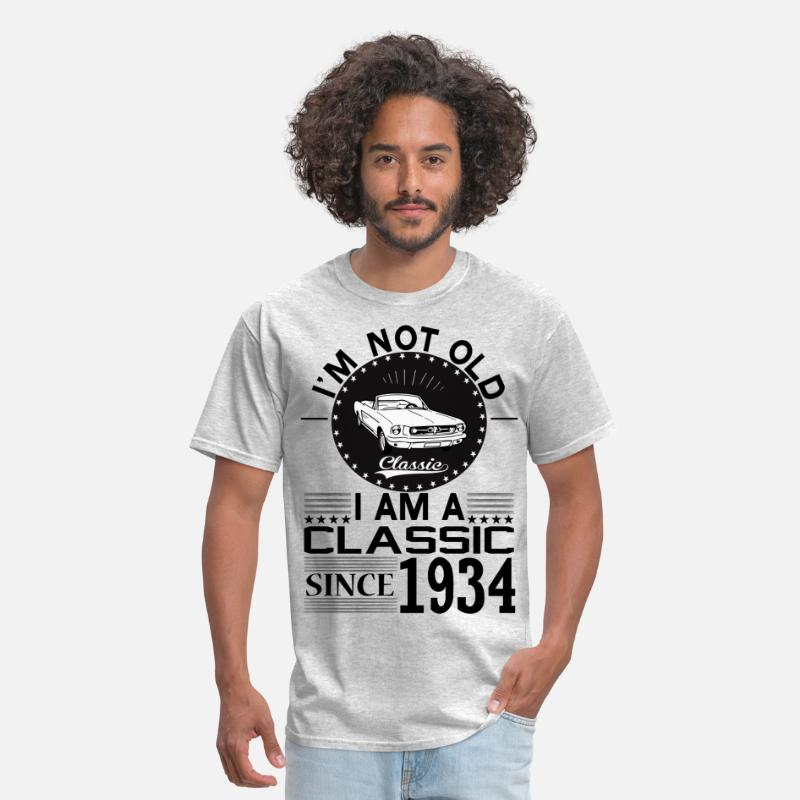"""born In 1934"" T-Shirts - Classic since 1934 - Men's T-Shirt heather gray"