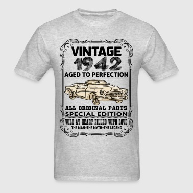 VINTAGE 1942-AGED TO PERFECTION - Men's T-Shirt