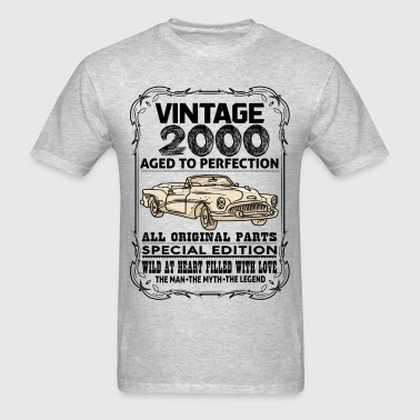 VINTAGE 2000-AGED TO PERFECTION - Men's T-Shirt