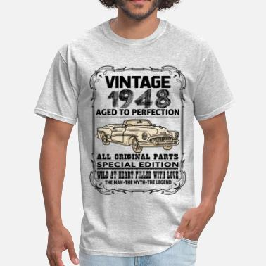 Aged To Perfection 1948 Birthday VINTAGE 1948-AGED TO PERFECTION - Men's T-Shirt