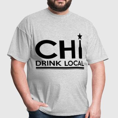 CHICAGO DRINK LOCAL BEER 1.png - Men's T-Shirt