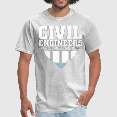 Connect Civil Engineers Connecting A2B - Men's T-Shirt