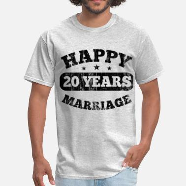 20 Year 20 Years Happy Marriage - Men's T-Shirt