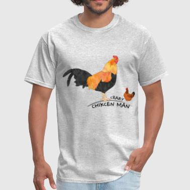 Crazy chicken Man - Men's T-Shirt