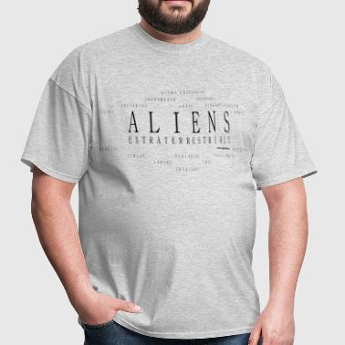Aliens Extraterrestrials T Shirts - Black - Men's T-Shirt
