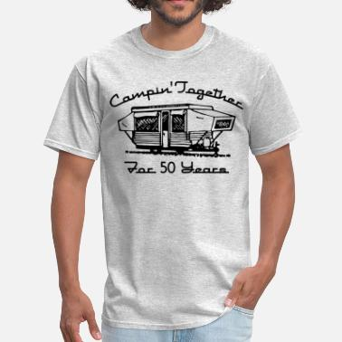 Second Wedding Her Camping Together 50 Years - Men's T-Shirt