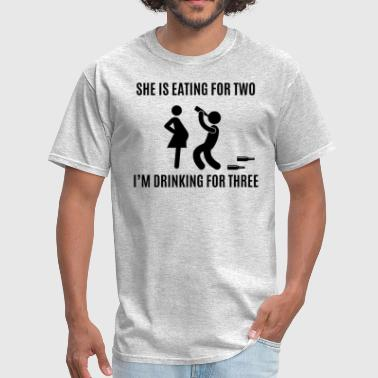 Drinking For Three - Men's T-Shirt