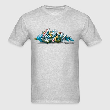 Phame Design for New York Graffiti  - 3D Style - Men's T-Shirt