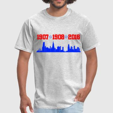 Cubs World Series cubs chicago skyline - Men's T-Shirt