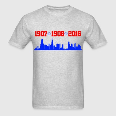 cubs chicago skyline - Men's T-Shirt