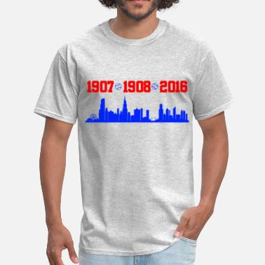 Cubs cubs chicago skyline - Men's T-Shirt