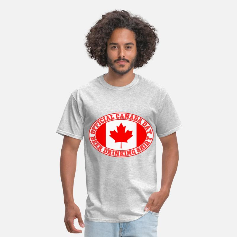 Canada T-Shirts - OFFICIAL CANADA DAY BEER DRINKING SHIRT - Men's T-Shirt heather gray
