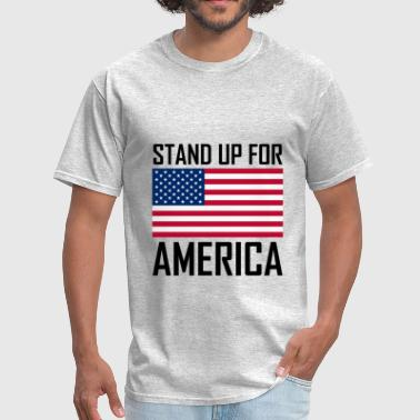 Stand Up For America Flag - Men's T-Shirt