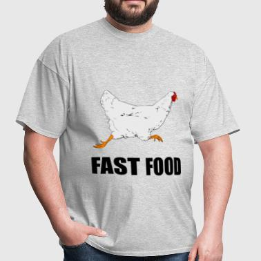 Chicken Running Fast Food - Men's T-Shirt