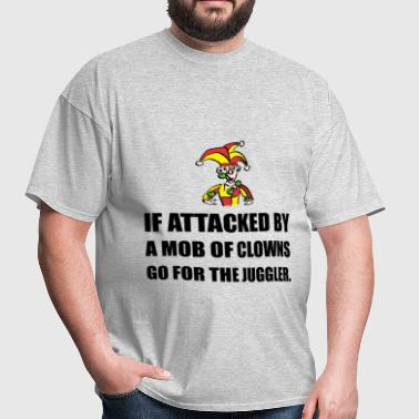 If Attacked By Clowns Go - Men's T-Shirt