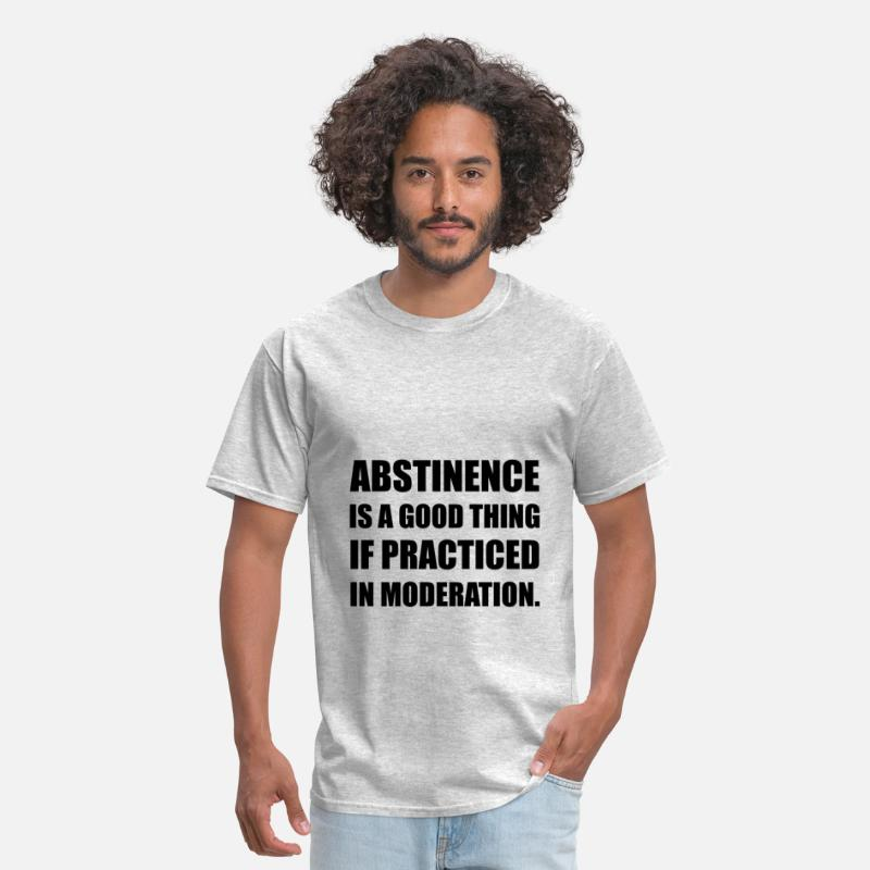 Alcohol T-Shirts - Abstinence In Moderation - Men's T-Shirt heather gray