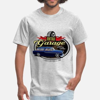 Hot Wheels Classic Car Garage with Blue Nomad - Men's T-Shirt