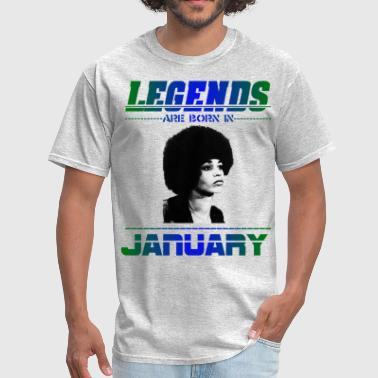 Angela Davis Legends are Born in January - Men's T-Shirt