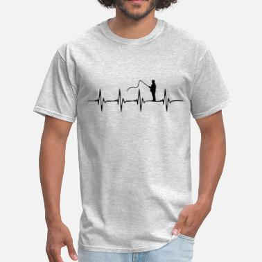 Fishing Heartbeat Heartbeat Fishing - Men's T-Shirt