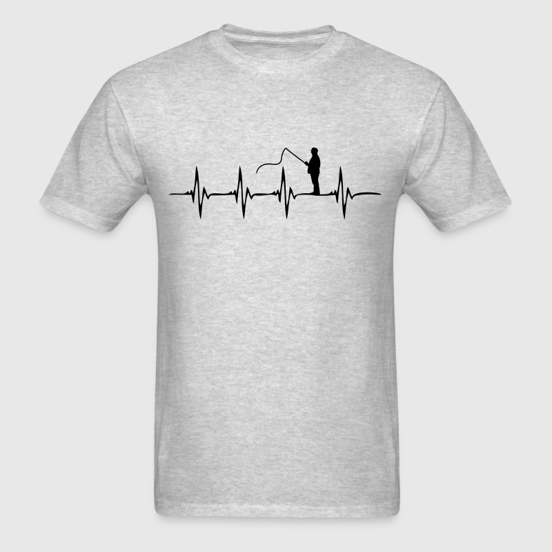 Heartbeat Fishing - Men's T-Shirt
