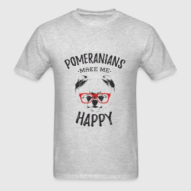 Pomeranians Make Me Happy - Men's T-Shirt