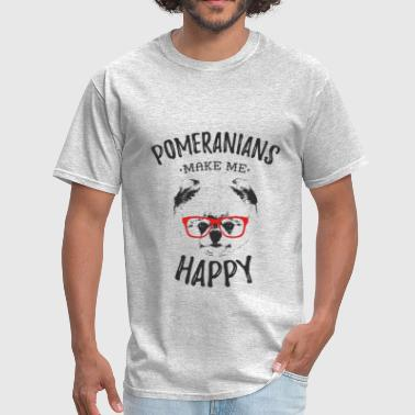 Daring Pomeranians Make Me Happy - Men's T-Shirt