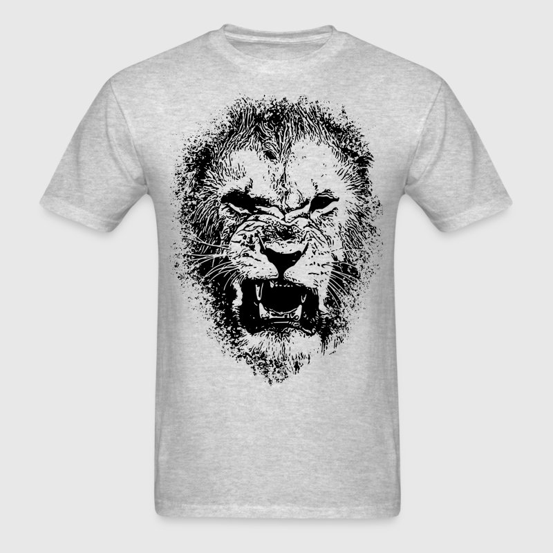 Lion Face Drawing - Men's T-Shirt