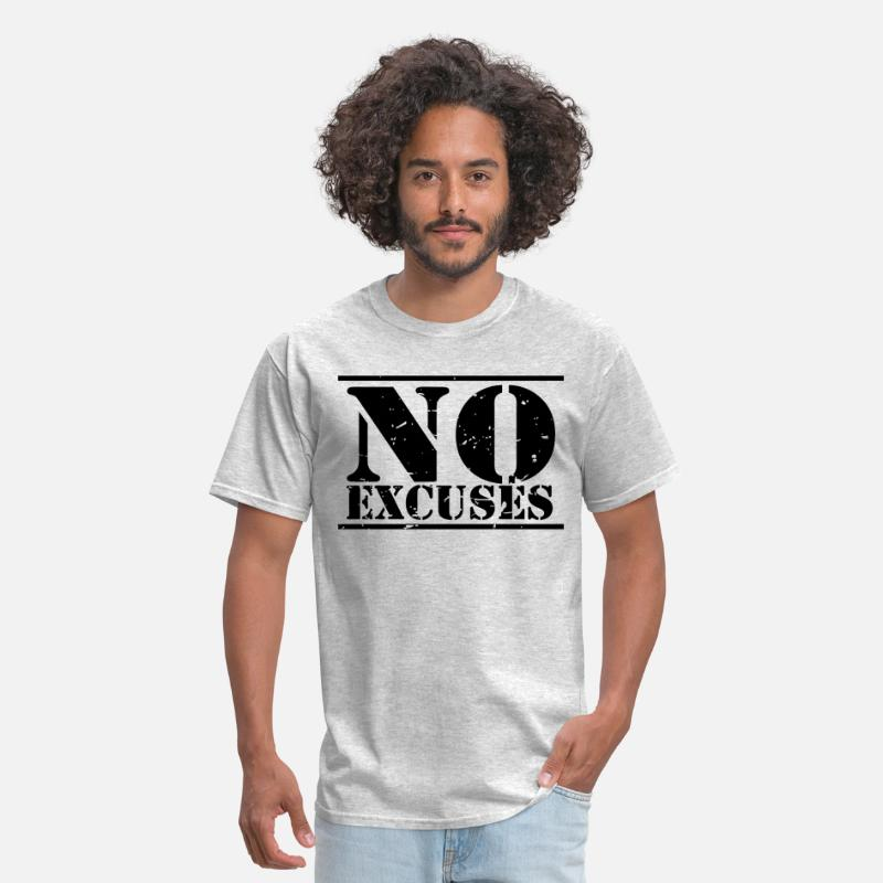 Hard T-Shirts - No Excuses training - Men's T-Shirt heather gray