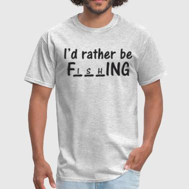 Fuck Puzzle I'd rather be F puzzle - Men's T-Shirt